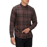 Hurley Vedder Washed Long Sleeve Button Up Shirt Mahogany