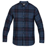 Hurley Vedder Washed Long Sleeve Button Up Shirt Mystic Navy