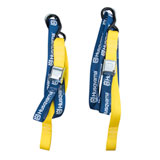 Husqvarna Soft Tie Downs with Clips Blue/Yellow