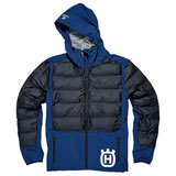 Husqvarna Sixtorp Hybrid Zip-Up Hooded Jacket Blue
