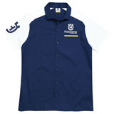 Husqvarna Team Button Up Shirt Blue