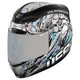 Icon Airmada Mechanica Helmet Silver
