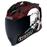 Icon Airflite Skull Helmet Black/Red/White