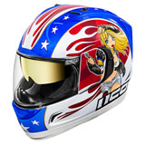 Icon Alliance GT DC18 Helmet Red/White/Blue