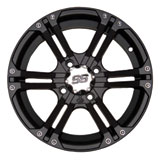 ITP SS212 Alloy Series Wheel Matte Black