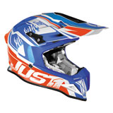Just 1 J12 Dominator Helmet White/Red/Blue