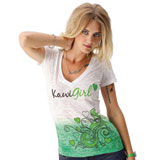 Kawasaki Kawi Girl™ Lover Boy Ladies V-Neck T-Shirt