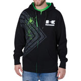 Kawasaki Checkered Splash Zip-Up Hooded Sweatshirt