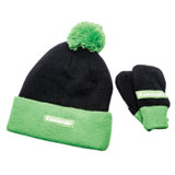 Kawasaki Infant Plushy Beanie and Mittens Set