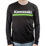 Kawasaki 3 Green Lines Long Sleeve T-Shirt Black