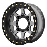 KMC XS234 Addict 2 Beadlock Wheel Satin Grey