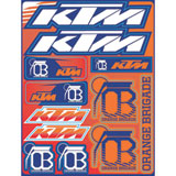 KTM Orange Brigade Sticker Sheet