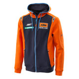 KTM Replica Team Zip-Up Hooded Sweatshirt Orange/Navy