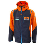 KTM Replica Team Hardshell Zip-Up Hooded Jacket Orange/Navy