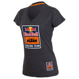 KTM Women's Red Bull Racing Team V-Neck T-Shirt Charcoal