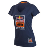 KTM Women's Red Bull Racing Team V-Neck T-Shirt Navy