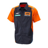 KTM Replica Team Button Up Shirt Orange/Navy