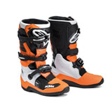 KTM Youth Tech 7S Boots Orange/Black/White