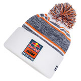 KTM Red Bull Racing Team PomPom Beanie White/Navy/Orange