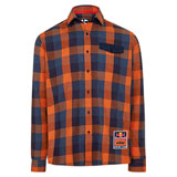 KTM Red Bull Racing Team Checkered Flannel Button Up Shirt Orange/Navy