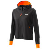 KTM Women's Emphasis Zip-Up Hooded Sweatshirt Black