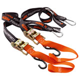 KTM Ratchet Soft Loop Tie Downs with Clips Black/Orange