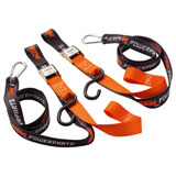 KTM Soft Loop Buckle Tie Downs with Clips Black/Orange