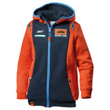 KTM Youth Replica Team Zip-Up Hooded Sweatshirt Orange/Navy