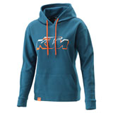 KTM Women's Logo Hooded Sweatshirt Blue