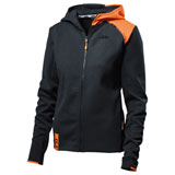 KTM Women's Unbound Zip-Up Hooded Sweatshirt Black/Orange