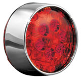 Kuryakyn Bullet Style L.E.D. Rear Turn Signal Conversions Chrome/Red