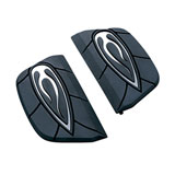 Kuryakyn Flame Passenger Motorcycle Floorboard Covers