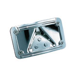Kuryakyn L.E.D. Curved Laydown License Plate Mount With Frame