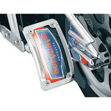 Kuryakyn L.E.D. Curved Vertical Side Mount License Plate Frame