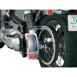 Kuryakyn L.E.D. Curved Vertical Side Mount License Plate Frame With Taillight Chrome