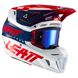 Leatt Moto 8.5 Helmet with Velocity 5.5 Goggle Blue