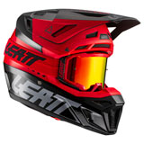 Leatt Moto 8.5 Helmet with Velocity 5.5 Goggle Red
