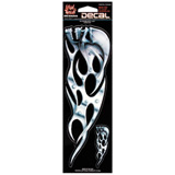Lethal Threat® Tribal Chrome Skull Decal - Left
