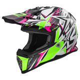 LS2 Fast V2 MX437 Helmet Strong Pink/Green