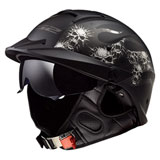 LS2 Rebellion Bones Helmet Matte Black