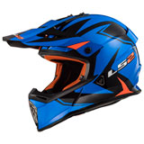 LS2 Fast V2 MX437 Helmet Twoface Matte Blue/Orange