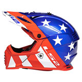LS2 Youth Gate Stripes Helmet Red/White/Blue