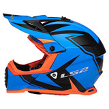 LS2 Youth Gate TwoFace Helmet Blue/Orange