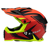 LS2 Youth Gate TwoFace Helmet Hi-Viz/Red