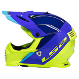 LS2 Youth Gate Launch Helmet Blue/Hi-Viz