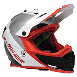 LS2 Youth Gate Launch Helmet White/Red/Black