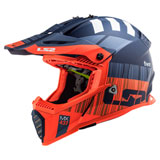 LS2 Gate Xcode Helmet Matte Orange/Blue