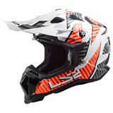 LS2 Subverter Evo Helmet Astro - White/Orange