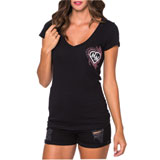 Metal Mulisha Fly Away Ladies V-Neck T-Shirt