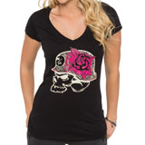 Metal Mulisha Headpiece Ladies V-Neck T-Shirt